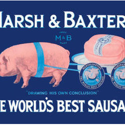 Buyenlarge - Marsh and Baxters Worlds Best Sausage 28x42 Giclee on Canvas - Series: Pigs, Bacon, Ham & Hogs