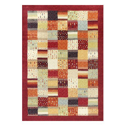 """Reflections 7419 Red Hacienda Rug - Reflections 7419 Red Hacienda. Machine-Made of 100% Polypropelene Frisee Yarn with No Backing. Made in Belgium. Pile Height:1/2"""""""