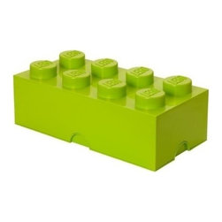 LEGO - LEGO Storage Brick 8, Light Yellow Green - Our Lego Storage Brick 8 in light yellow green isn't simply a container  it's a giant Lego brick that can be used to build oversized creations. Lift off the top to reveal storage space for small toys, regular bricks and building accessories based on your space and needs.