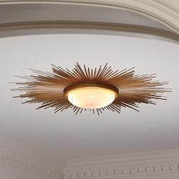 Sunburst Light Fixture - An amazing low profile fixture for a low ceiling!