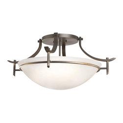 Kichler 3-Light Semi Flush - Olde Bronze - Three Light Semi Flush