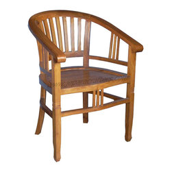 Teak Dining Chairs For Indoor Furniture - This Product made by solid teak wood with Traditional shellac finish