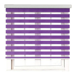 "Blinds-US - Roller Zebra Blind / Light filtering sheer shade, Purple, 36""in W X 72""in L / 91 - Product Description"