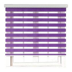 "Blinds-US - Roller Zebra Blind / Light filtering sheer shade, Purple, 36""in W X 72""in L / 91 - Product Description"