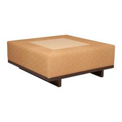 "32-04 oscar upholstered ottoman - Dimensions: 40"" W x 40"" D x 16"" H"