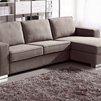 Zuri Furniture - Brown Chloe Sleeper Sectional - Right Chaise - Have a lot of guests but not a large space? Don't worry Chloe is just what you need, with it's pull out sofa bed and storage chaise, you'll be ready for any situation!