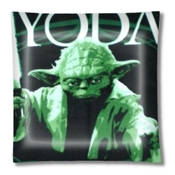 "Yoda Star Wars Ceiling Light - 12"" square semi flushmount ceiling lamp with designer finish. Includes complete installation instructions and complete light fixture. Wipes clean with a damp cloth. Uses 2-60 watt bulbs (not included) and is made with eco-friendly/non-toxic products. This is not a licensed product, but is made with fully licensed products."