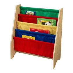 KidKraft - KidKraft 4 Shelf Primary Colored Sling Bookshelf Multicolor - 14226 - Shop for Childrens Bookcases from Hayneedle.com! Because reading is the key to their future make it as fun as it can be with the KidKraft 4 Shelf Primary Colored Sling Bookshelf. Sized just right for them to reach any item this shelf displays books so kids are able to recognize their favorite volumes. Some assembly required; ships with all necessary fasteners and easy-to-follow instructions. Includes 90-day manufacturer's warranty.