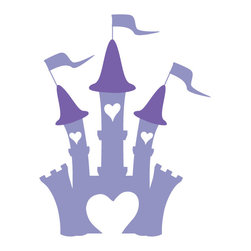 My Wonderful Walls - Princess Castle Stencil for Painting - - Castle stencil