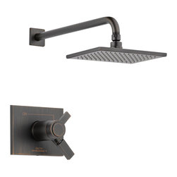 Delta TempAssure(R) 17T Series Shower Trim - T17T253-RB - Inspired by slim lines and graceful arc of a ribbon, the Vero bath collection offers a high-end, modern look to the bath.