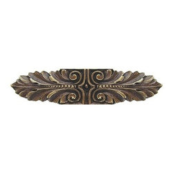 """Inviting Home - Opulent Scroll Pull (antique brass) - Hand-cast Opulent Scroll Pull in antique brass finish; 3-3/4""""W x 7/8""""H; Product Specification: Made in the USA. Fine-art foundry hand-pours and hand finished hardware knobs and pulls using Old World methods. Lifetime guaranteed against flaws in craftsmanship. Exceptional clarity of details and depth of relief. All knobs and pulls are hand cast from solid fine pewter or solid bronze. The term antique refers to special methods of treating metal so there is contrast between relief and recessed areas. Knobs and Pulls are lacquered to protect the finish. Alternate finishes are available. Detailed Description: The Opulent Scroll pulls add an amazing focus to any drawers or cabinets - it will make them look regal and majestic. The absolute perfect place for these pulls to be used is in the dining room on your china closet. They are great pulls to use if you are trying to punch up an antique piece of furniture or cabinet. You should consider using the Opulent Scroll pulls in combination with the Opulent Flower knobs or wood knobs with flower."""