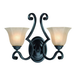 Dolan Designs - Dolan Designs 779-34 Winston 2-Light Wall Sconces in Olde World Iron - This 2 light Wall Sconce from the Winston collection by Dolan Designs will enhance your home with a perfect mix of form and function. The features include a Olde World Iron finish applied by experts. This item qualifies for free shipping!
