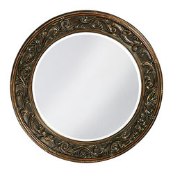 Suzanne Round Framed Wall Mirror