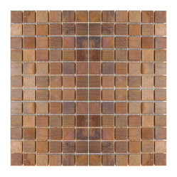 Medium Square Antique Copper Mosaic Tile Sample