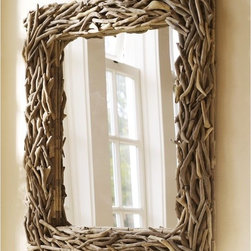 Driftwood Mirror - Nothing says coastal like driftwood, and it looks perfect on this mirror.