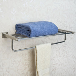 Albury Towel Rack - Add storage, space and beauty with the Albury Collection Towel Rack. Ideal for a hallway area or bathroom, this towel rack is made from solid brass.