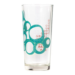 Working Class Studio - Kay Collection - Glass Tumbler Set - Teal - Bottoms up! With their layered circular pattern, these 15-ounce tumblers have the design pizzazz to enhance your table settings. Use them at every meal to elevate your daily dining experience.