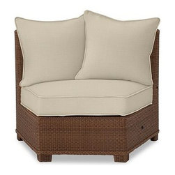 Palmetto All-Weather Wicker Rounded Armless Sunbrella(R) Chair Cushion Slipcover - Crafted from Sunbrella(R) fabric or water-repellent, ring-spun polyester, our cushion slipcovers are the perfect match for the strength and durability of our outdoor collections. Click to read an article on {{link path='pages/popups/palmetto-care_popup.html' class='popup' width='640' height='700'}}recommended care{{/link}}. Water-repellent, ring-spun polyester, or Sunbrella(R) fabric slipcovers for Palmetto cushions. Sunbrella(R) fabric is specially designed to resist fading, mildew, chlorine and stains. Machine wash slipcover. Sunbrella(R) cushions and slipcovers are special order items which receive delivery in 3-4 weeks. Please click on the shipping tab for shipping and return information. Catalog / Internet only. Imported. View our {{link path='pages/popups/fb-outdoor.html' class='popup' width='480' height='300'}}Furniture Brochure{{/link}}.
