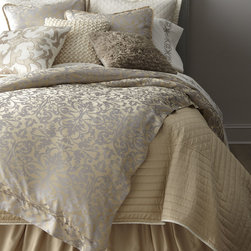 "Lili Alessandra Champagne/Silver ""Jackie"" Bed Linens -"