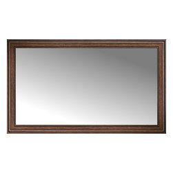 """Posters 2 Prints, LLC - 70"""" x 42"""" Arqadia Bronze Traditional Custom Framed Mirror - 70"""" x 42"""" Custom Framed Mirror made by Posters 2 Prints. Standard glass with unrivaled selection of crafted mirror frames.  Protected with category II safety backing to keep glass fragments together should the mirror be accidentally broken.  Safe arrival guaranteed.  Made in the United States of America"""
