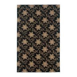 Rizzy Home - Country Black - CT0912 By Rizzy Home - Whether you have a passion for the French countryside or an enthusiasm for historic farmhouses, the beautiful rugs of the Country collection are exactly what you need to complete your interior design. Bountiful charm, remarkable details, and a myriad of colors and patterns, this collection is fresh and full of character. The hand-tufted New Zealand wool blend is constructed of a full loop pile that has a distinctive, hand-hooked appearance, completely in keeping with the informal beauty of classic country dcor.