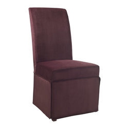 "Powell - Powell Port Purple Velvet Skirted ""Slip Over"" Slipcover X-Z852-147 - Designed exclusively for our ""Slip Over"" Seating, this soft, inviting slipcover retains its smooth fit and removes easily for cleaning or changing. The Port Purple Velvet Skirted ""Slip Over"" is a great way to make your existing furniture new and different. Featuring Port Purple Velvet solid pattern fabric - 70% polyester, 30% rayon, this ""Slip Over"" is appealing and attractive and would make a great addition to your home.  For use with 741-440 chair."