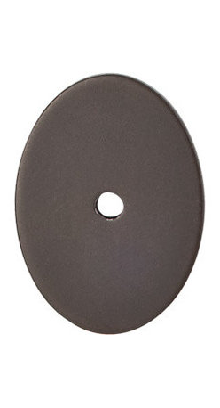 """Top Knobs - Large Oval Backplate 1 3/4"""" - Oil Rubbed Bronze - Length - 1 3/4"""", Width - 1 1/4"""", Projection - 1/16"""""""