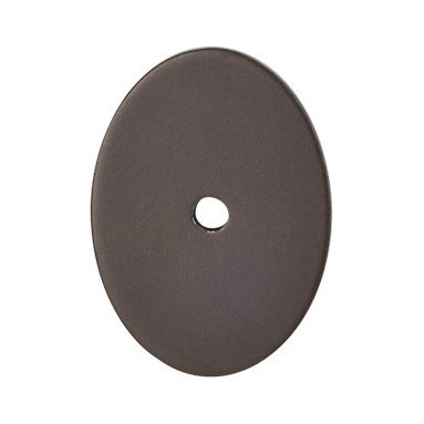 "Top Knobs - Large Oval Backplate 1 3/4"" - Oil Rubbed Bronze - Length - 1 3/4"", Width - 1 1/4"", Projection - 1/16"""