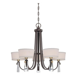 Quoizel Lighting - Quoizel Lighting UPBY5005WT Quoizel UPBY5005IS Imperial Silver Uptown Bowery 1 T - Quoizel UPBY5005 Uptown Bowery 5-Light Chandelier Uptown Bowery chandelier with 5 lights by Sergio Orozco ,