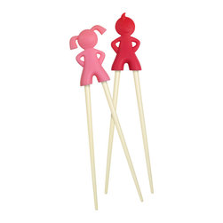Chopstick Kids - These chopstick kids are here to help your wee one master the art of the chopstick. Don't wait to have Chinese or sushi for dinner to try them out either — I know my son loves using chopsticks for everything!