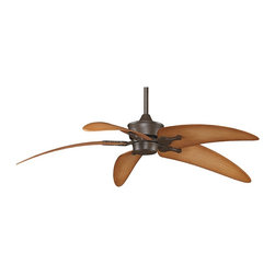 """Fanimation - Tropical 52"""" Fanimation Islander™ Oil-Rubbed Bronze Ceiling Fan - The unique styling of the Islander ceiling fan by Fanimation brings the feel of the tropics to your home. This 52"""" fan is finished in oil-rubbed bronze motor with dark natural accent narrow palm ABS blades. It has a 20 degree blade pitch High efficiency DC motor with reversible air flow 3-speed full function remote control and a limited lifetime motor warranty. 6"""" downrod included. (UM)Oil-rubbed bronze motor finish. Dark natural accent narrow palm ABS blades. High efficiency DC Motor (consumes up to 70% less energy). Limited lifetime motor warranty. Full function remote control included. UL listed for damp locations. UL listed for ENERGY STAR®. Fan height 14 3/4"""" ceiling to blade (with 6"""" downrod). Canopy 5 3/4"""" wide. 20 degree blade pitch. 6"""" downrod included. 52"""" blade span. (ON UM)  Oil-rubbed bronze motor finish.   Dark natural accent narrow palm ABS blades.  High efficiency DC Motor (consumes up to 70% less energy).   Limited lifetime motor warranty.   Full function remote control included.   UL listed for damp locations.   UL listed for ENERGY STAR®.   Fan height 14 3/4"""" ceiling to blade (with 6"""" downrod).   Canopy 5 3/4"""" wide.   20 degree blade pitch.   6"""" downrod included.   52"""" blade span."""