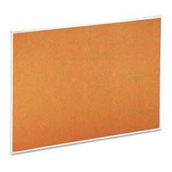 Universal - Universal 48 x 36 in. Natural Cork Bulletin Board with Aluminum Frame Multicolor - Shop for Bulletin Boards from Hayneedle.com! Functional and trendy the Universal 48 x 36 in. Natural Cork Bulletin Board with Aluminum Frame is perfect to post messages and notes. Made from resilient natural cork material with fiberboard dense backing it s self-healing and long lasting. Its satin-finished wraparound smooth aluminum frame gives it durability and visual appeal. This aluminum frame combined with durable black corner support adds quality and elegance to the bulletin board. The bulletin board comes with mounting hardware for easy installation.About United StationersDedicated to making life in the office more organized efficient and easier United Stationers offers a wide variety of storage and organizational solutions for any business setting. With premium products specifically designed with the modern office in mind we're certain you will find the solution you are looking for.From rolling file carts to stationary wall files every product in the United Stations line is designed with one simple goal: to improve office efficiency. In turn you will find increased productivity happier more organized employees and an office setting that simply runs better with the ultimate goal of increasing bottom line profits.