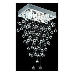 Elegant Lighting - Elegant Lighting 2021D20C(LED) Galaxy 6-Light LED, Single-Tier Crystal Chandelie - Elegant Lighting 2021D20C(LED) Galaxy 6-Light, Single-Tier Crystal Chandelier, Finished in Chrome with Clear CrystalsElegant Lighting 2021D20C(LED) Features: