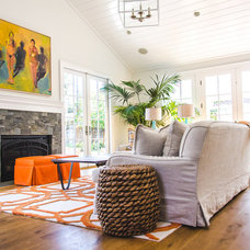 Traditional Family Room by Evars + Anderson Interior Design