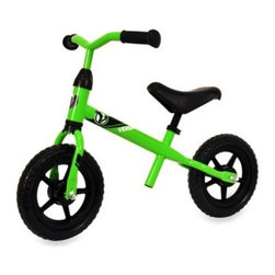 "Kettler - Kettler Kiddi-o Speedy 10-Inch Balance Bike in Green - With a simple scoot of their feet on the Kettler Kiddi-o Speedy 10"" Balance Bike in Green, your little one will be on their way. The unique training bike helps a child build the skills needed later to ride a bicycle without training wheels."