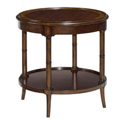 EuroLux Home - New Side Table Regency Aged Mahogany Finish - Product Details