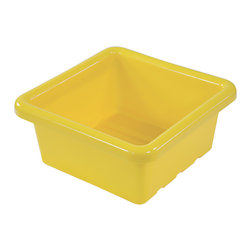 Ecr4kids - Ecr4Kids Square Replacement Tray For Stroage Unit Without Lid Yellow 20 Pack - Replacement Bins for use with storage units and Sand and Water Play Centers.Replacement polypropylene basin for modular Sand and Water Play Centers, Ellipse Storage Centers and other laminate storage centers.Note Colors may vary - may change without notice. Available with clear lid (model ELR-0801-XX), sold separately To avoid attraction by animals or insects, do not leave water standing after use.