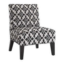Monaco Accent Chair - Spades Black