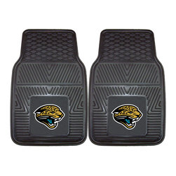 Fanmats - Fanmats Jacksonville Jaguars 2-piece Vinyl Car Mats - A universal fit makes this two-piece mat set ideal for cars, trucks, SUVs and RVs. The officially licensed Jacksonville Jaguars design in true team colors is permanently molded of vinyl for longevity.