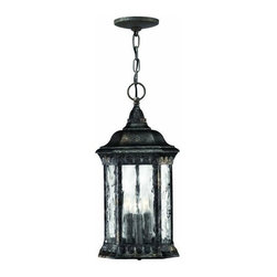 Hinkley - Hinkley Regal 3-Light Black Granite Hanging Lantern - 1722BG - This 3-Light Hanging Lantern is part of the Regal Collection and has a Black Granite Finish. It is Outdoor Capable, and Damp Rated.