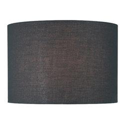 Lite Source - Black Drum Shade - 16in.Tx16in.Bx11in.H - Black Drum Shade - 16 in. Tx16 in. Bx11 in. H