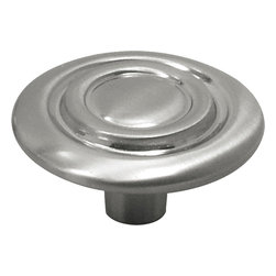 Hickory Hardware - Cavalier Satin Nickel Cabinet Knob - Classic lines, finishes and styles create a warm and comforting feel. Usually 18th-century English, 19th-century neoclassic, French country and British Colonial revival. Use of classic styling and symmetry creates a calm orderly look.