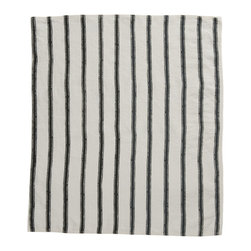 Cricket Radio - Alexandria Stripe Hand Towel, Oyster/Charcoal - Give this towel a hand with cassic stripes on luxurious Italian linen that gets softer with time and comes in your choice of colors. Add a little color, style and utility to your kitchen or guest bath — or buy a few to use as oversize napkins.
