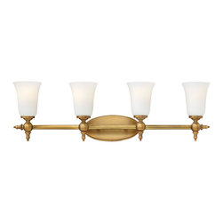 Hinkley Lighting - Hinkley Lighting 5744BR Hinkley Lighting 5744AN Antique Nickel 4 Light 32.75 Wid - Hinkley Lighting 5744 Yorktown 4 Light Vanity Sconce The elegant Yorktown collection offers updated traditional styling with cast detailing for an auth