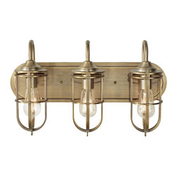 Murray Feiss - Urban Renewal 3 Light Vanity Light - The Urban Renewal lighting collection is a diverse selection of pendants, chandeliers and sconces all inspired by the 20th century Industrial Revolution.  Featuring reproduction pieces from the nation's vintage factories and warehouses, Urban Renewal adds an industrial-inspired aesthetic to any home - adding flair and fun to classic, traditional decor or to the most sleek, contemporary urban spaces.   No doubt, what's old is new again.