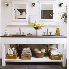 Eclectic  slate sink counter