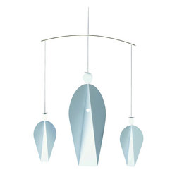 Flensted Mobiles - Turning Angels Mobile - With slow sweeps and graceful arcs, this angel mobile will watch over you and your family. Tiny heart-shaped cutouts leave room for the light to shine in. These angels will add peace to your home all year-round.