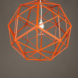 "17"" orange bakey street orb - view this item on our website for more information + purchasing availability: http://redinfred.com/shop/category/detail/lighting/pendants-chandeliers/17-orange-bakey-street-orb/"