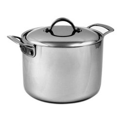 Culinary Institute of America 7-Ply Clad Copper 8 qt. Stock Pot with Lid - Perfect for winter and fall, the Culinary Institute of America 7-Ply Clad Copper 8 qt. Stock Pot with Lid provides plenty of space for soups, chilies, and more. This handsome 8-quart stockpot features a stainless steel and aluminum construction with a 7-ply copper core that helps distribute heat evenly on all types of stoves (including induction ranges), so burning and boil-overs become less of a problem. The handles are riveted to the piece and the lid fits securely on top of the pot to keep pressure – and your concoctions – safely in the pot. Piece is not dishwasher safe and weighs 9 lbs.About Robinson HomeRobinson Home Products is an employee-owned company started in upstate New York in 1920. They offer some of America's favorite brands and products. From casual dinnerware to upscale serving dishes, Robinson Home has exactly what every kitchen and dining room needs.