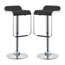 Modway - Modway EEI-927 LEM Bar Stools Set of 2 in Black - The LEM Style Bar Stool has sleek lines that would be equally impressive in a restaurant or at home. Perfect for entertaining guests at restaurants, your home bar,  or for stylish seating around the kitchen counter.